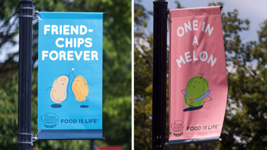 The Culinary Institute of America banners