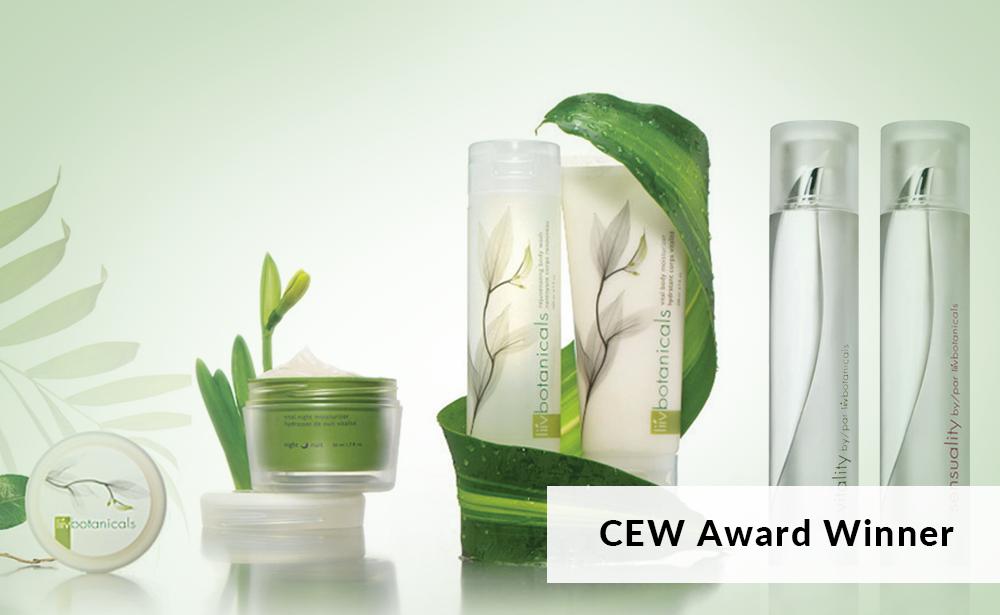 liiv botanicals CEW award winner