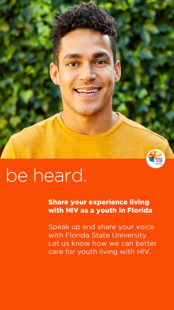 Be Heard orange ad